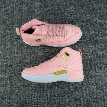 2017 new color pink air jordan 12 retro sneaker gs