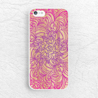 Pink Purple Floral Wood print Phone Case for iPhone, Sony z1 z3, LG g3 g2 nexus 6, Moto g Moto x, HTC one m7 m8, colorful lace pattern -G16