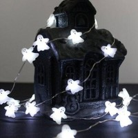 Ghost String Lights 40 Cold White LEDs with Remote & Timer