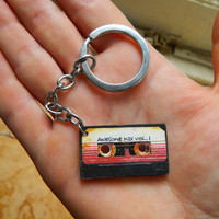 Guardians of the Galaxy Awesome mix tape vol.1 keychain  Free UK Postage!