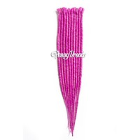 Hot Pink Single Ended Synthetic Dreadlock Extensions 20""