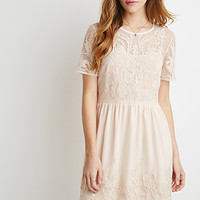 Embroidered Overlay Dress
