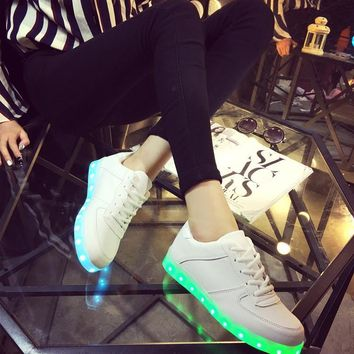 Lightning Shoes Round-toe Low-cut Flat Casual LED Lights [6734570503]