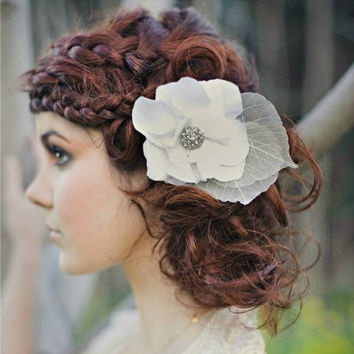 bridal flower white silk spring summer skeleton by Shanionie