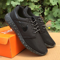 NIKE Women Men Running Sport Casual Shoes Sneakers Pure black starry sky soles