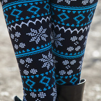 Blue Night Sky Leggings
