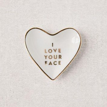 ESB4XG Fringe Studio Love Your Face Catch-All Dish | Urban Outfitters