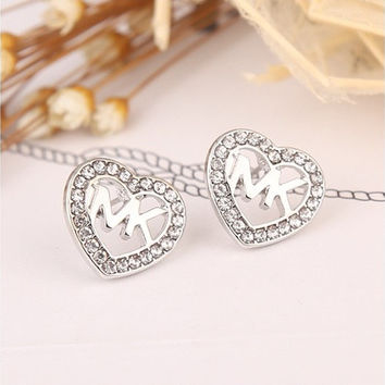 HOT SALE Hollow Heart-shaped diamond Crystal Stud Earrings Earri c95a295ee