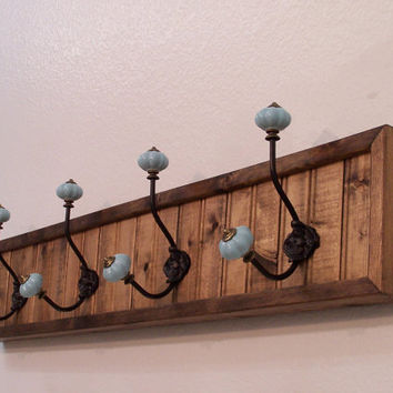 Bead Board Coat and Hat Rack, Wall Coat Rack