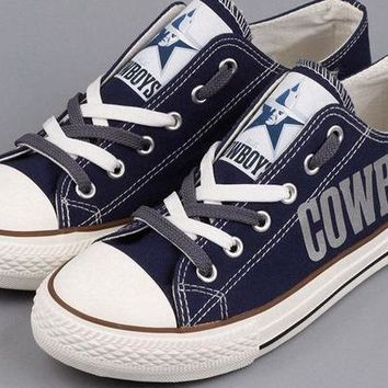 Dallas Cowboys Canvas Shoes (4 Styles To Choose From)