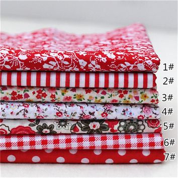 7pcs/set 100% Cotton Quilting Fabric for DIY Sewing Patchwork Kids Bedding Bags Tilda Doll Baby Cloth Textiles Fabric 25*25cm