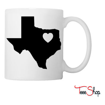 Texas Heart Coffee & Tea Mug