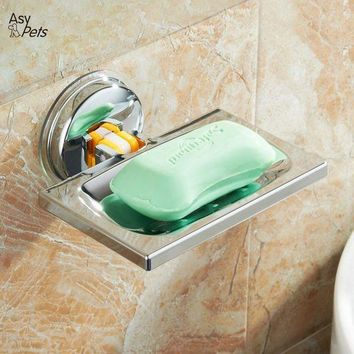 DCCKFS2 AsyPets Strong Metal Suction Wall Soap Holder Dish Basket Tray Bathroom Shower Soap Cup-30