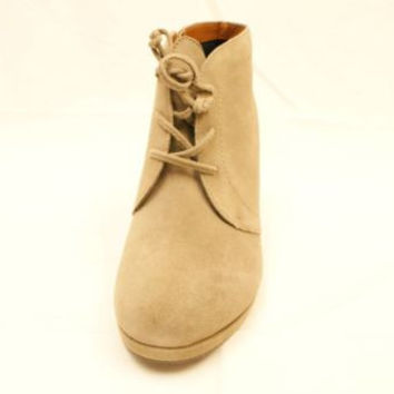 34406918876 Dv by Dolce Vita Pace Taupe Suede Wedge Boots Women s 9.5 M NIB