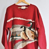 Vintage 1980s Geese + Scottish Wool Sweater