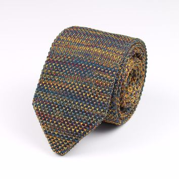 New Style Fashion Men's Colourful Tie Knit Knitted Ties Necktie Normal Slim Classic Woven Cravate Narrow Neckties