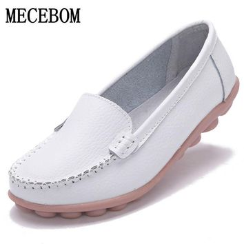 Shoes Woman Leather Women Shoes Flats Colors footwear Loafers Slip On Women's Flat Shoes Moccasins Plus Size 1189w