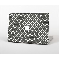 The Gray & White Seamless Morocan Pattern Skin Set for the Apple MacBook Pro 15""