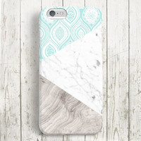 iPhone 6 Case, iPhone 6 Plus Case, iPhone 5S Case, iPhone 6, iPhone 5C Case, iPhone 4S Case, iPhone 4 Case - Paisley Marble Wood