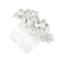 Rhinestone Vines and Leaves Hair Comb