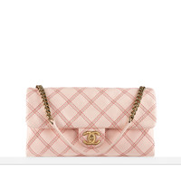 Two-tone calfskin small flap bag - CHANEL