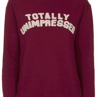Totally Unimpressed Sweatshirt by Tee and Cake - Topshop