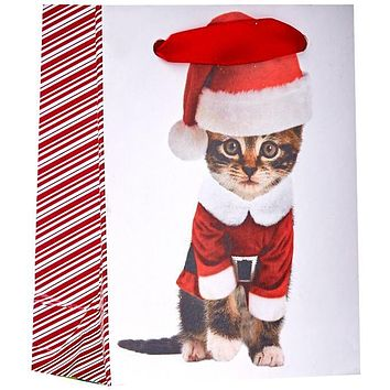 Tiny Gloss Christmas Gift Bags, Kitty Cat Kittens (12 Pieces)