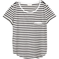 Striped Jersey Top - from H&M