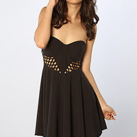 The Caged Up Dress in Black