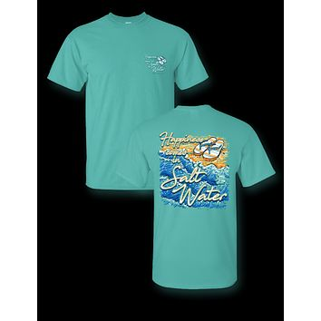 Sassy Frass Happiness Comes in Salt Water Beach Comfort Colors Bright T Shirt