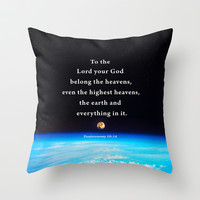 The Highest Heavens Throw Pillow by Peter Gross
