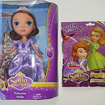 Disney Sofia the First 9-Inch Princess Sofia Doll and 24 Piece Puzzle