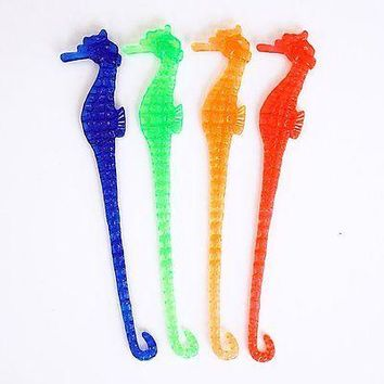 8 Seahorse Cocktail Drink Stir Swizzle Sticks Stirrers Beach Party Nautical