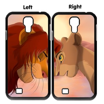 simba and nala wallpaper Y0013 Couple Samsung Galaxy S3 S4 S5 (Mini) S6 S6 Edge,Note 2 3 4, HTC One S X M7 M8 M9 Couple Cases