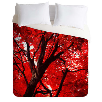 Happee Monkee Red Canopy Duvet Cover