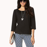 Essential Boxy Pintucked Top