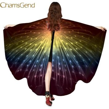 Chamsgend Newly Design Peacock Wings Pashmina Shawl Scarf