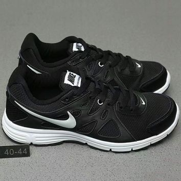 Nike REVOLUTION 2 MSL Women Casual Running Sport Shoes Sneakers Black+White G-A0-HXYDXPF