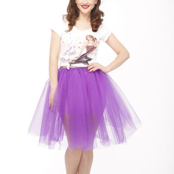 50s tea length tulle tutu skirt, TUTU purple skirt, tulle tutu, prom tutu, wedding tutu, bridesmaid tutu, formal tulle tutu crinoline skirt,