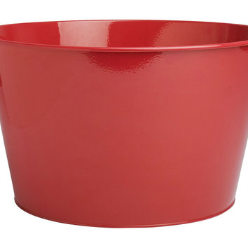 Galvanized Party Tub, Red, Ice Buckets