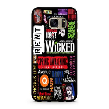 Famous Broadway Musiacal Plays Collage Samsung Galaxy S7 Case