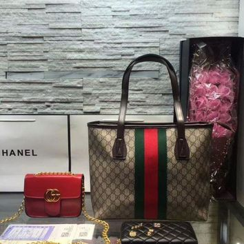ONETOW Year-End Promotion 3 Pcs Of Bags Combination (Gucci Bag ,Gucci Mid Bag ,Chanel Wallet)
