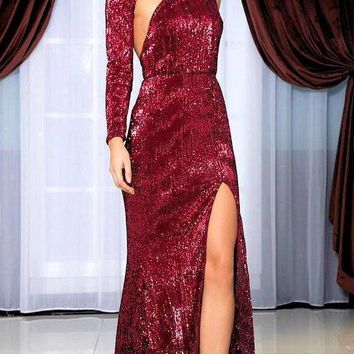 Polly Sequin Luxe Gown