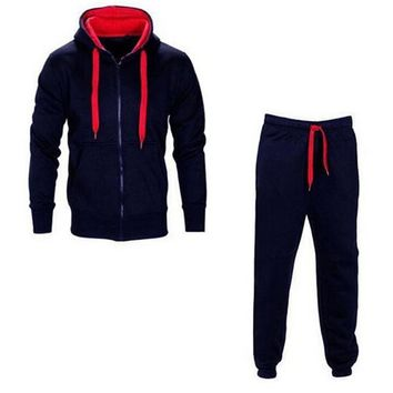 Men's Long-Sleeve Two-piece Hoodie & Sweatpants Set