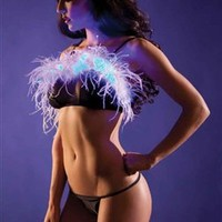 Black Feather Lights Set - LED Rave Outfits from Raveware
