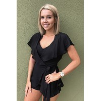 Little Black Romper- Black