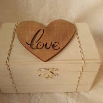 Rustic Wedding Ring BOx Love Gift Box Trinket Box Wedding Decor