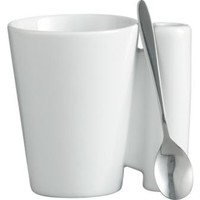 CB2 - spoon coffee mug with stainless steel spoon