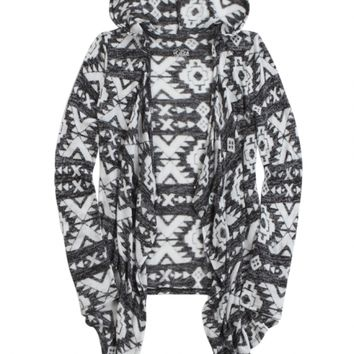 HOODED WATERFALL CARDIGAN | GIRLS NEW ARRIVALS {PARENT_CATEGORY} | SHOP JUSTICE