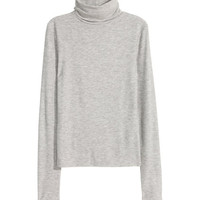 H&M Ribbed Turtleneck Top $14.99